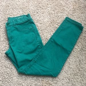 Gap Green Legging Jeans